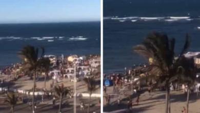 VIDEOS: Jóvenes protagonizan batalla campal en playas de Veracruz