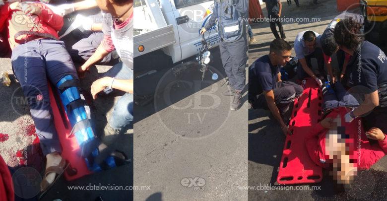 Accidente vehicular deja una pareja de jóvenes heridos en Zitácuaro