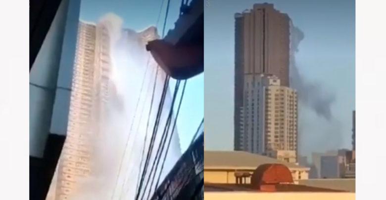 Terremoto en Filipinas rompe la piscina de un edificio