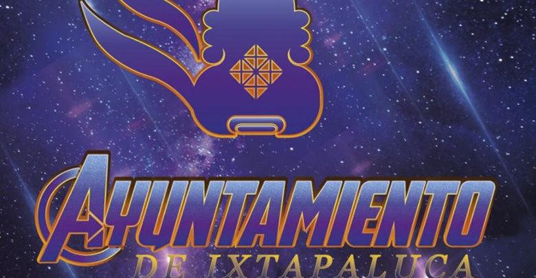 La fiebre de Avengers llegó al Ayuntamiento de Ixtapaluca, este es su nuevo logo