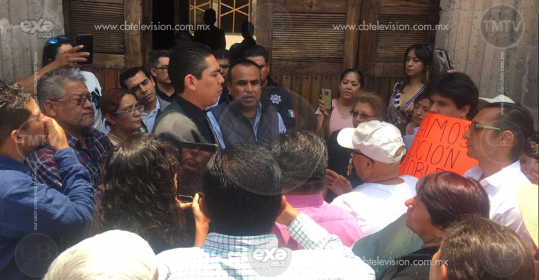 Habitantes de Caja Grande se manifiestaron en Palacio de Gobierno