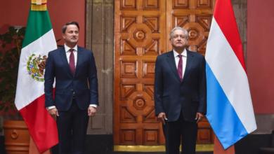 En Palacio Nacional, AMLO recibe a primer ministro de Luxemburgo, Xavier Bettel