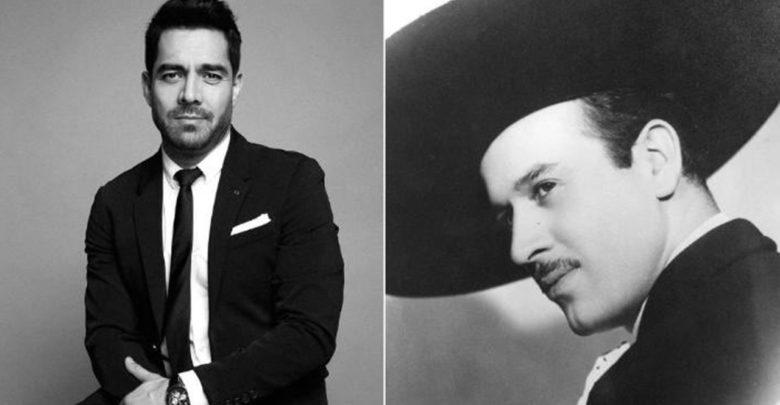Dan a conocer la primera foto de Omar Chaparro como Pedro infante y ¡están idénticos!