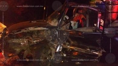 Cuatro personas resultan heridas en aparatoso accidente en la carretera Peribán-Los Reyes