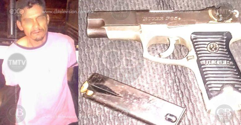 Policías de Tarímbaro no tienen armas, pero delincuentes si, detienen a uno con pistola