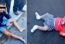 VIDEO (+18): Sicarios matan a dos mujeres y hieren a un bebé y a un niño de 10 años