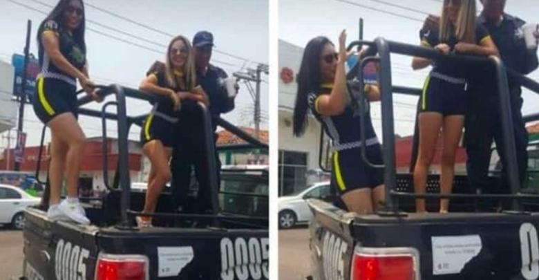 """Policías """"pasean"""" a edecanes en Tabasco"""