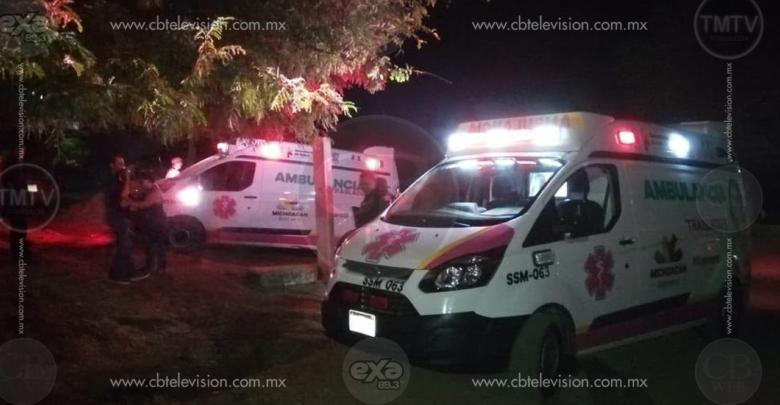 Auxilian a lesionados por fuegos pirotécnicos en Uruapan