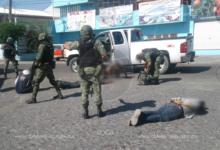 Arrestan a cuatro tras enfrentamiento con militares