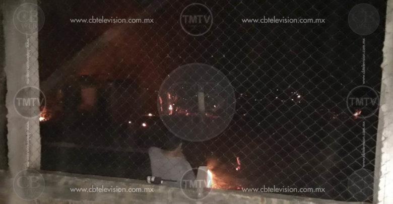 Se incendia vivienda en Apatzingán