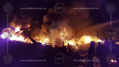 Se incendia patio de empresa termoeléctrica