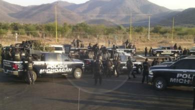 Refuerza vigilancia Policía Michoacán y Milicia en Chilchota tras ataque bélico