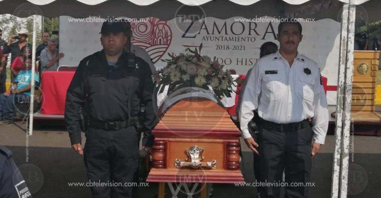 Rinden homenaje a policías asesinados en Zamora