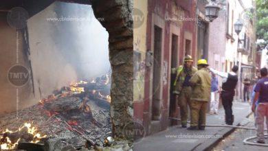 Hombre incendió su casa en Morelia, al parecer bajo los efectos de las drogas