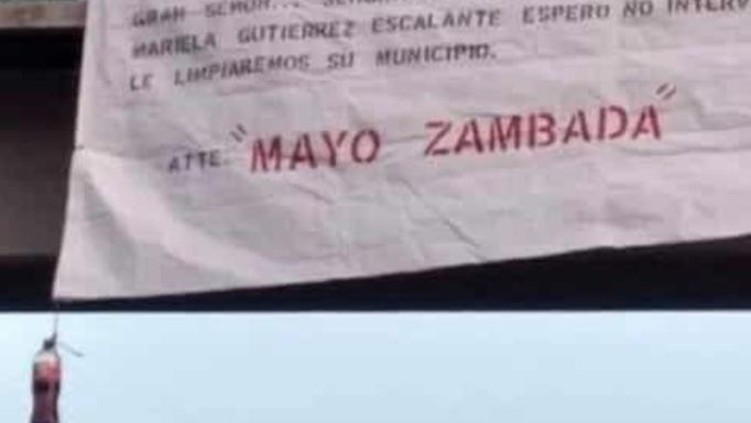 """Reaparece """"El Mayo Zambada""""; dejan manta dirigida a alcaldesa de Tecámac"""