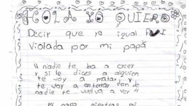 """""""Fui violada por mi papá"""", la carta de una menor que fue abusada sexualmente"""