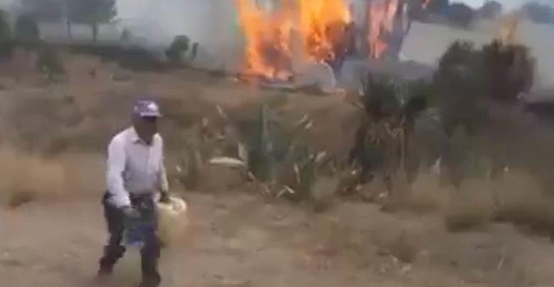 Video: Hombre quema árboles con gasolina porque dice que son suyos