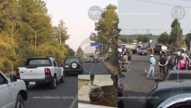 Se registra bloqueo por parte de profesores, comerciantes y campesinos en la Uruapan – Los Reyes