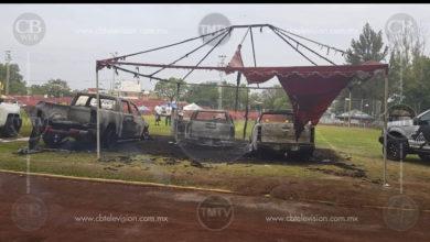 CJNG también atacaron hogar del Secretario del Ayuntamiento de Zamora y quemaron autos nuevos en el Bikini Car