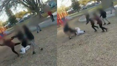 Niños golpean brutalmente a una mujer que los regañó por aventarle piedras a un anciano