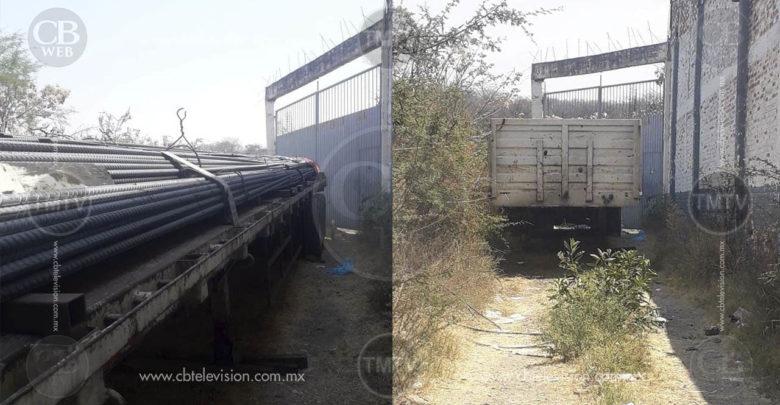 Roban camión con 35 toneladas de varilla
