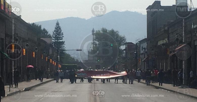 Movilizaciones de diversos sindicatos de trabajadores de Michoacán