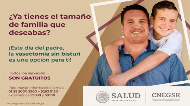 IMSS y la Secretaría de Salud celebran el Día del Padre con vasectomías gratis