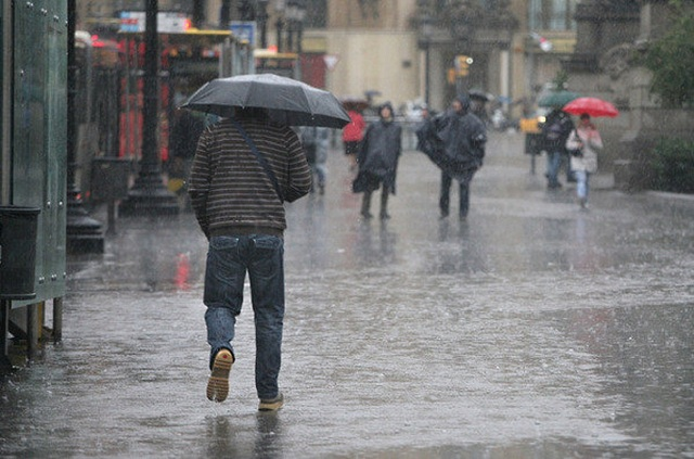 A sacar el paraguas