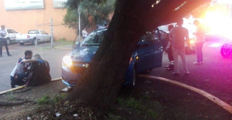 Accidente automovilístico en la avenida Ventura Puente