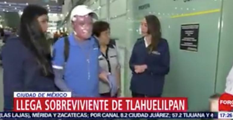 VIDEO: Regresa a México el último sobreviviente de la explosión de Tlahuelilpan