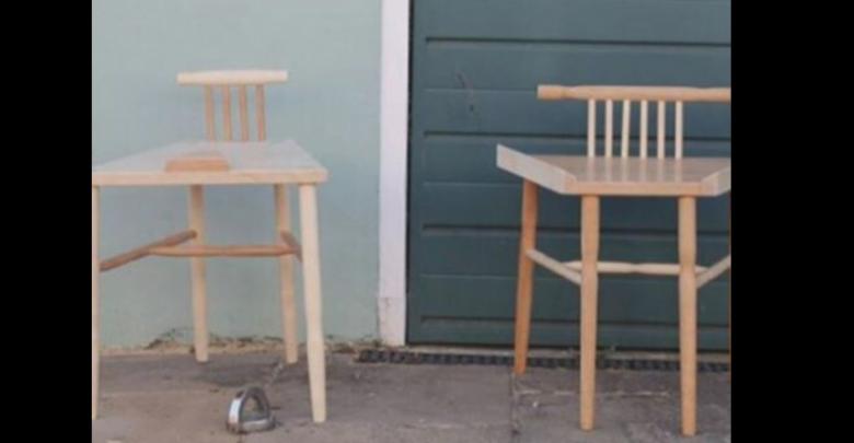 Joven construye sillas especiales para que los hombres se sienten con las piernas cerradas
