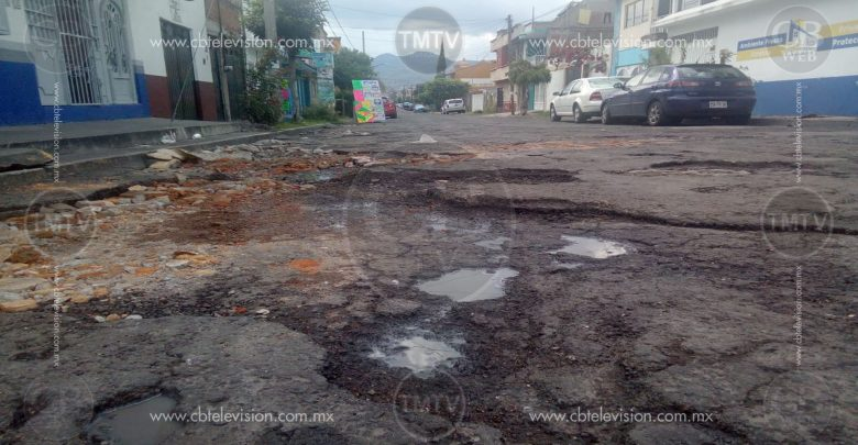 Deficiente infraestructura de calles en Morelia