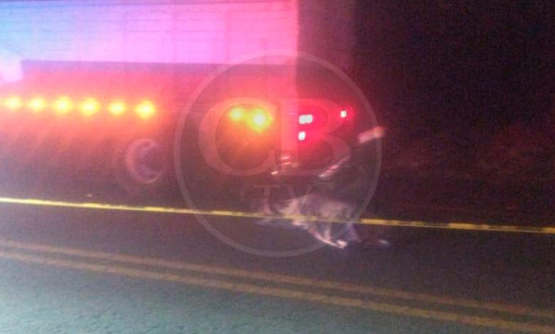 Muere motociclista al chocar con un camión en la siglo XXI