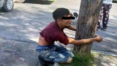 Photo of Vecinos hacen justicia por su cuenta y amarran a ladrón en un poste