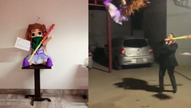 Photo of Abogados rompen piñata de figura feminista y desatan polémica en redes