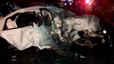 Photo of Un muerto y dos heridos en choque de vehículo; uno se incendia
