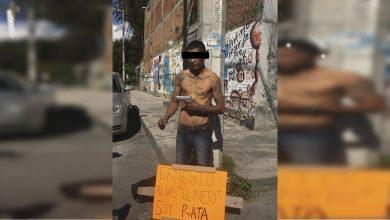 "Photo of ""Soy rata"", exhiben a presunto ladrón en Morelia"