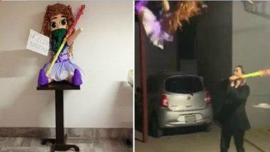 Photo of México: Despacho de abogados rompe una piñata con forma de feminista