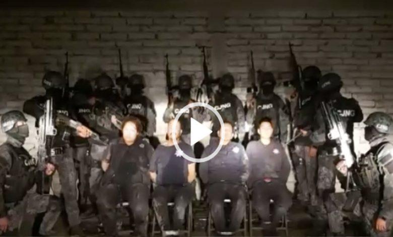 Video: CJNG difunde interrogatorio de policías secuestrados y asesinados en Villagrán