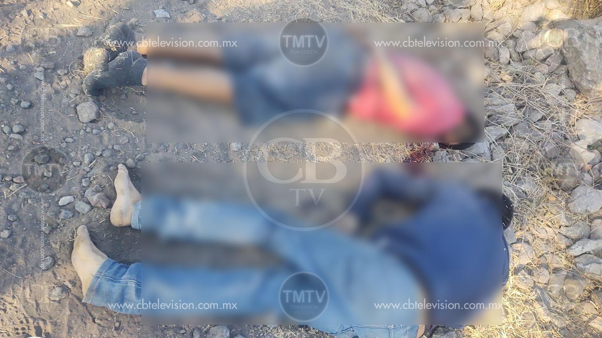 Matan a dos tiradores y los abandonan en Sixto Verduzco