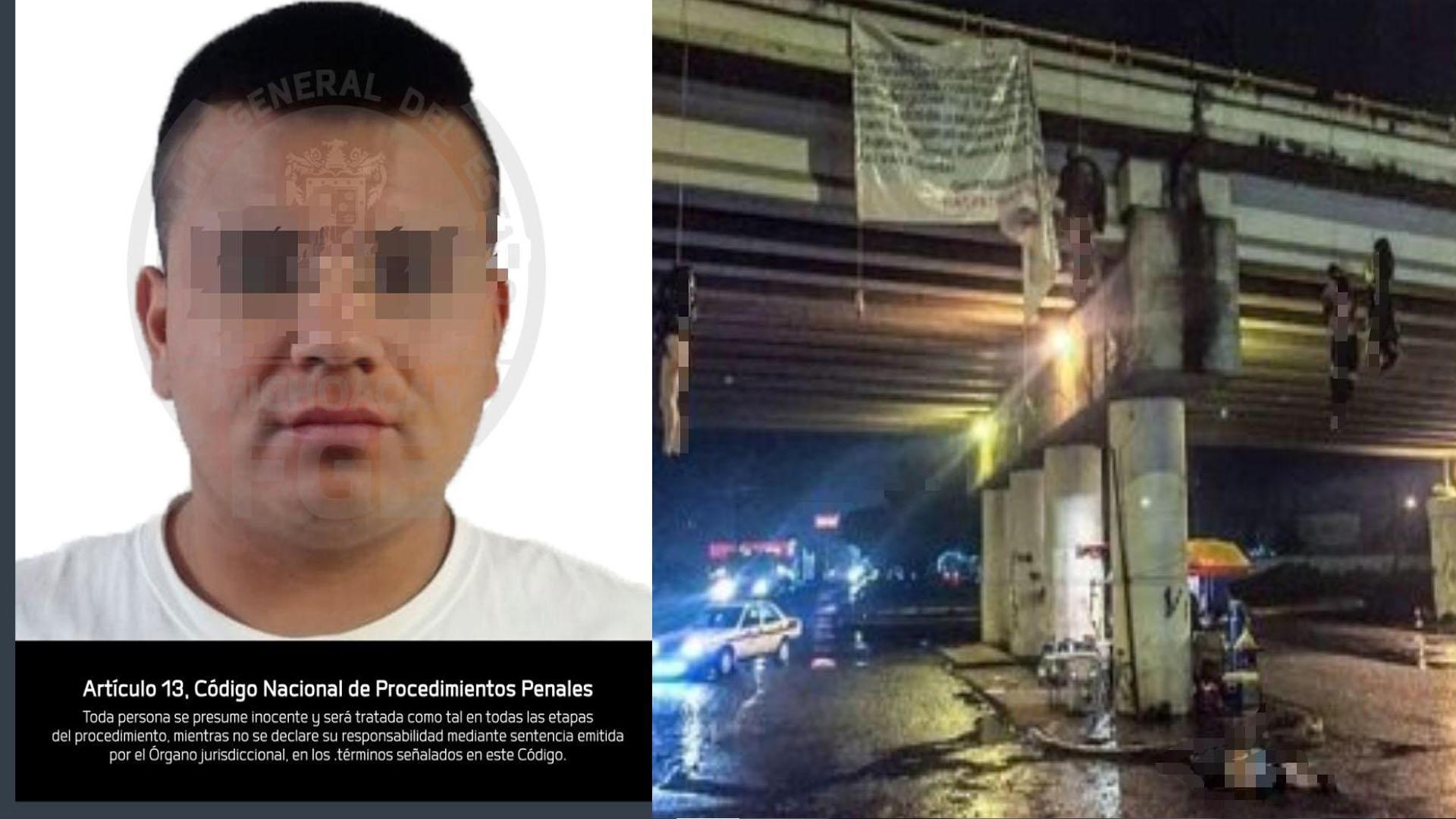 Detiene Fiscalía General a presunto responsable de secuestro y homicidio de cinco personas colgadas en Uruapan