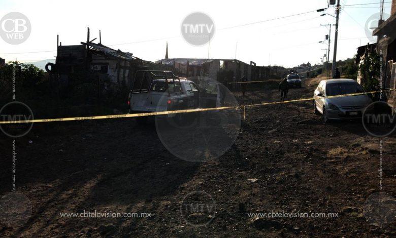 Tres personas muertas y una mujer lesionada en cd. Jardín de Morelia