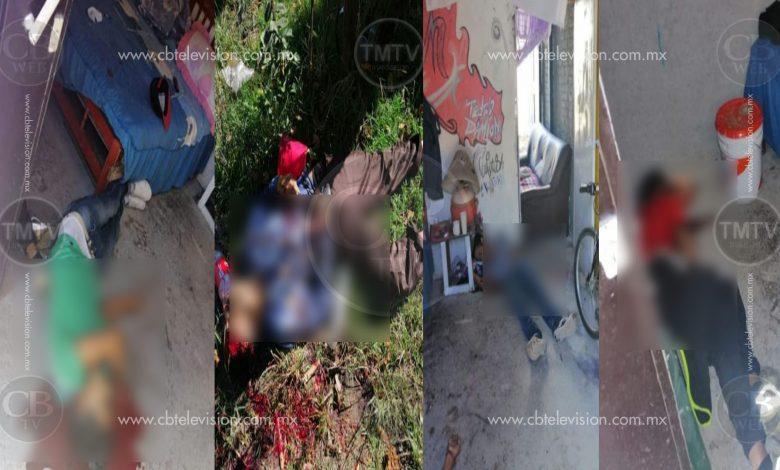 Cuatro muertos en ataque armado en la Tenencia Morelos