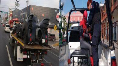 """Photo of México: Detienen al hombre Araña y remolcan el """"Batimóvil"""""""