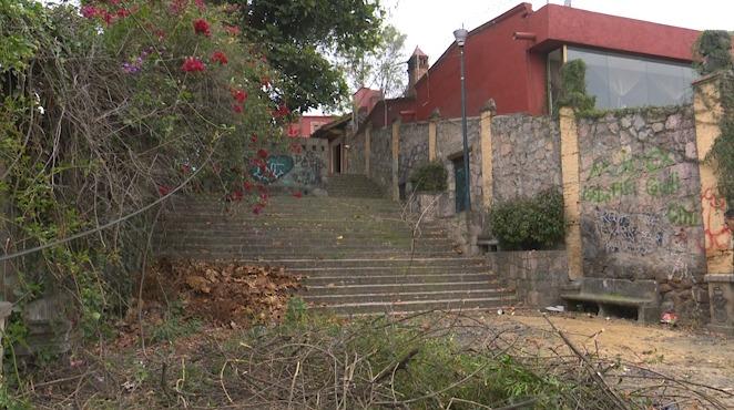 Mirador de Santa María sobre la calle Patzimba, lugar para delincuentes