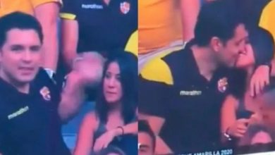 Photo of Video Viral: Kiss Cam pone en evidencia presunta infidelidad