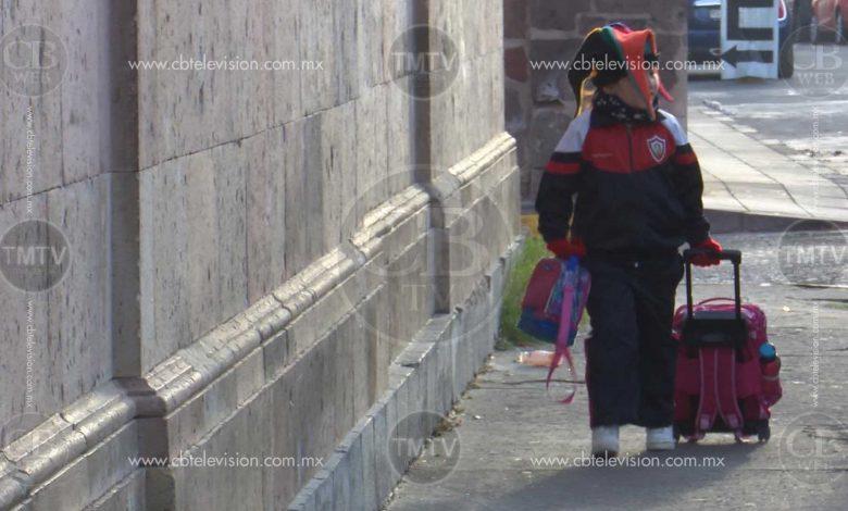 Educación básica mantiene horarios de invierno; continúan Frentes Fríos en Michoacán