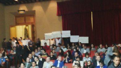 Photo of Se manifiesta SUEUM durante evento de la Entrega de la Presea Ignacio Chávez a estudiantes