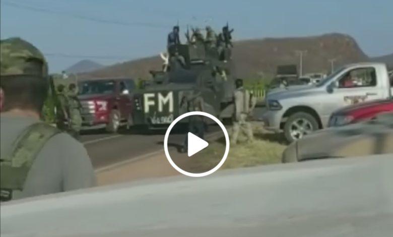 Video: Captan sicarios fuertemente armados en carreteras michoacanas