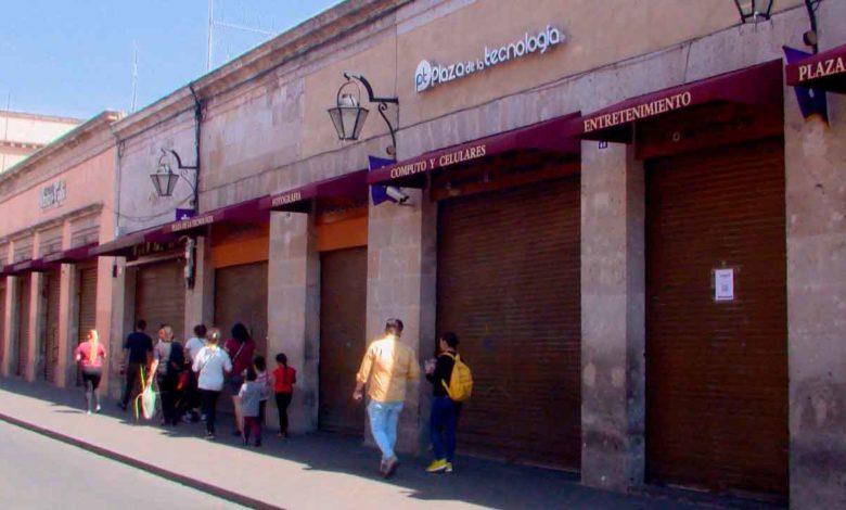 Reapertura de negocios en el Centro de Morelia